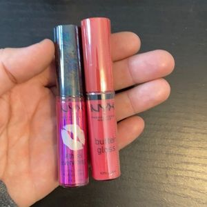 NYX Lip Oil and NYX Butter Gloss